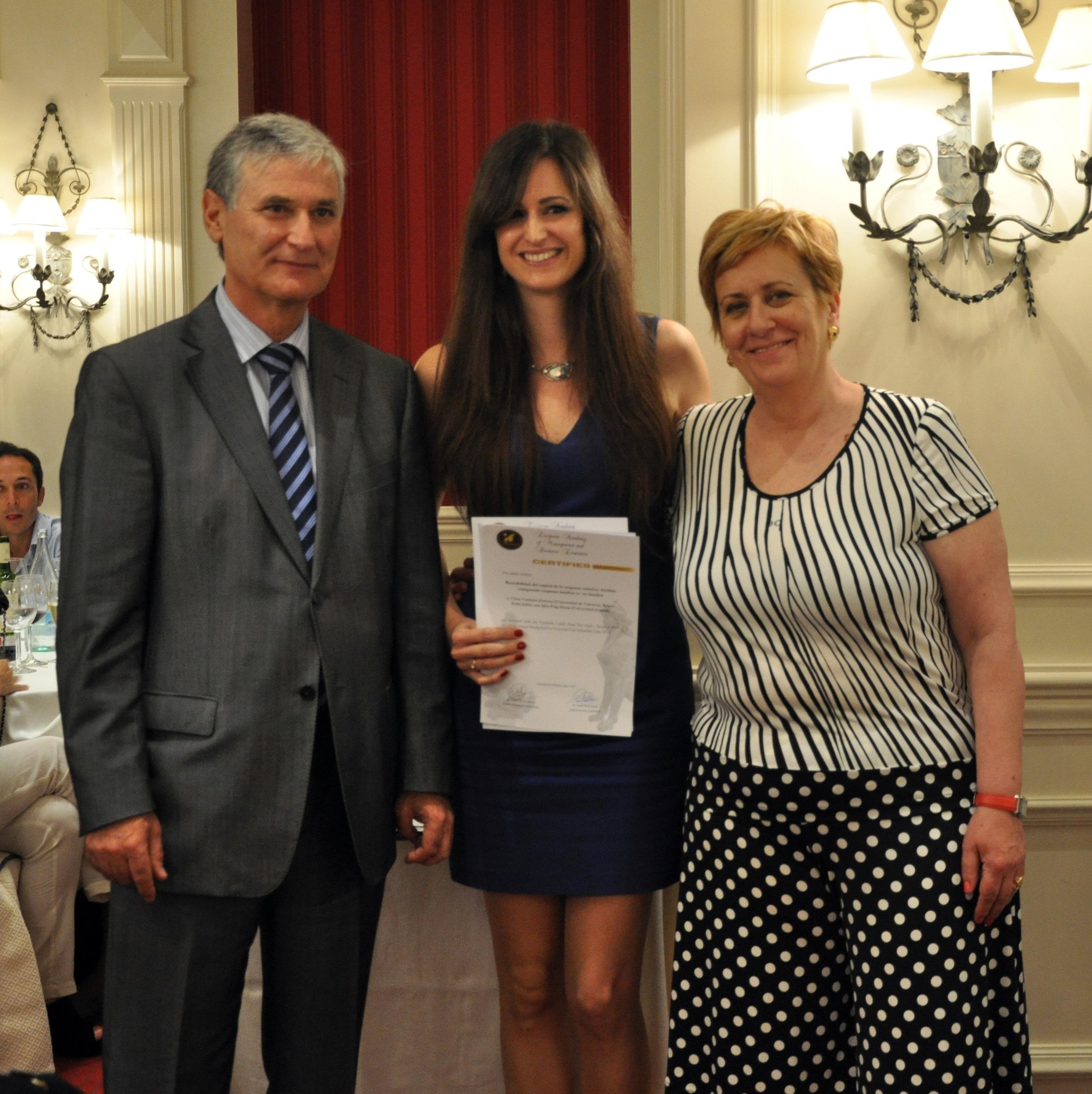 Premio a la mejor investigación del congreso XXIX de AEDEM