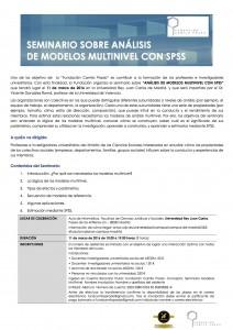 SEMINARIO SOBRE ANÁLISIS DE MODELOS MULTINIVEL CON SPSS