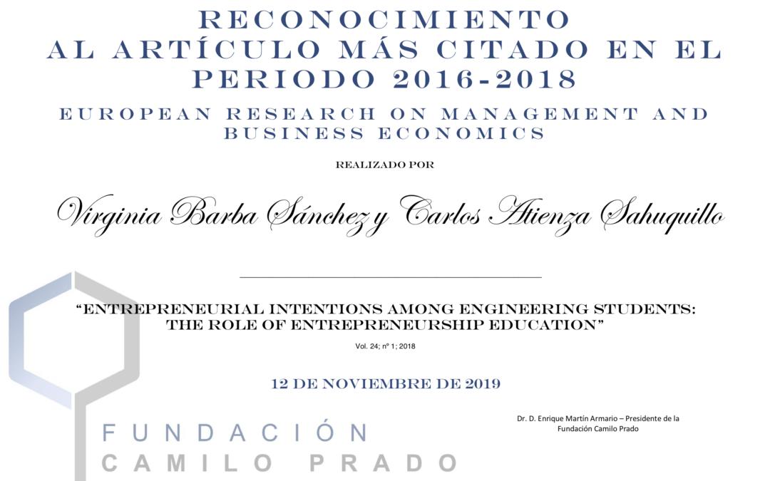 La Fundación Camilo Prado premia a dos profesores de la Universidad de Castilla -La Mancha