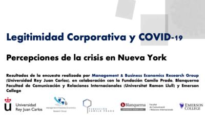 Informe de legitimidad Corporativa y COVID-19: Percepciones de la crisis en Nueva York