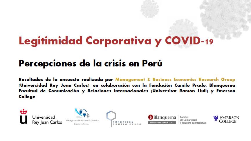 Informe de legitimidad Corporativa y COVID-19: Percepciones de la crisis en Perú