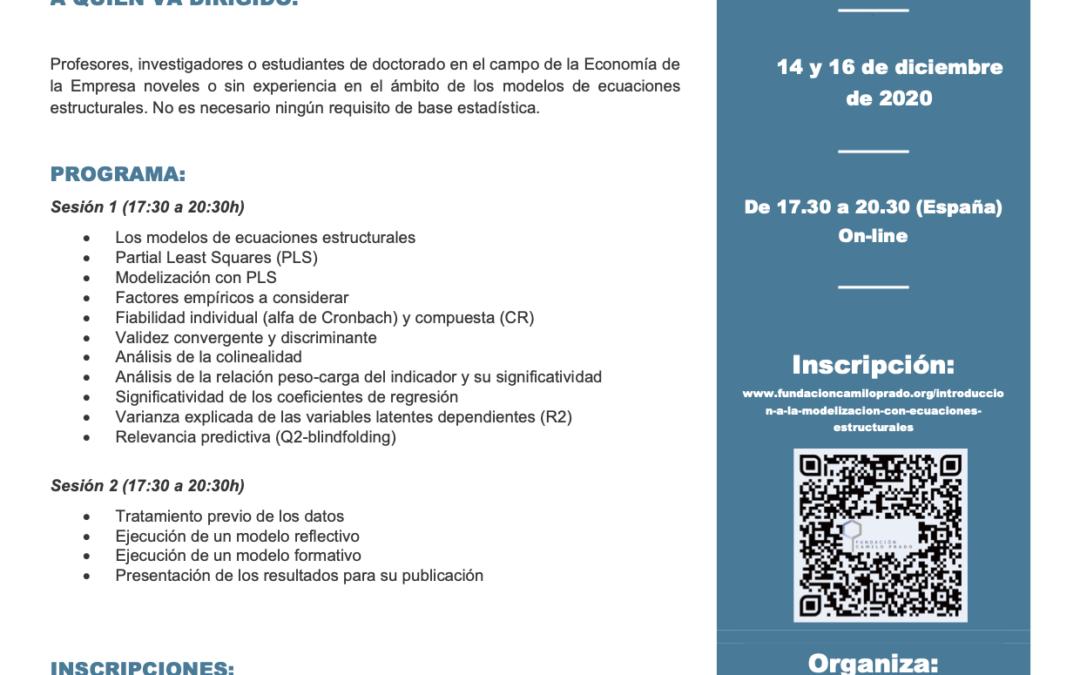 """Curso """"Introducción a la Modelización con Ecuaciones Estructurales"""""""